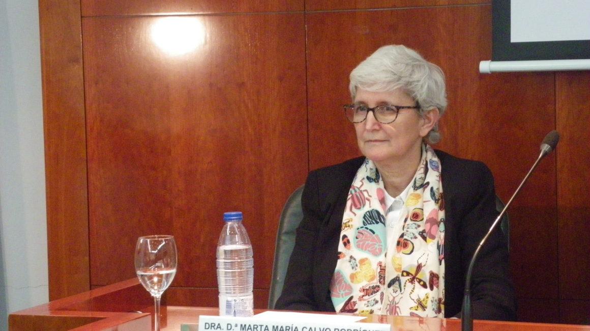 Dra. Marta María Calvo Rodríguez interviene en la Real Academia de Ciencias Veterinarias de España