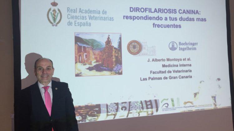 El Dr. Alberto Montoya, académico de número de la RACVE, interviene en las jornadas de parasitología e inmunología celebradas en Guadalmar (Almería-ESPAÑA).