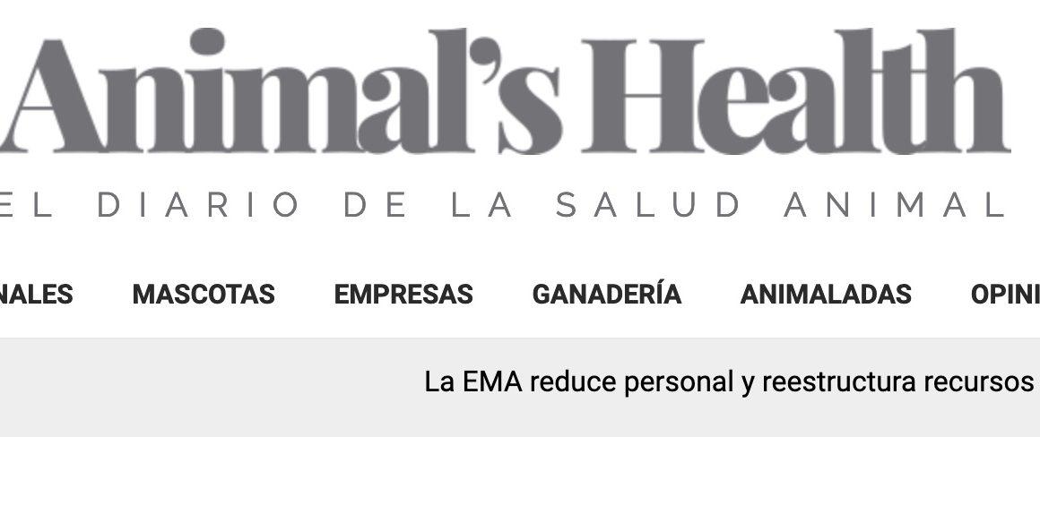La página web de la RACVE incorpora a sus enlaces el periódico digital Animal´s Health, el diario de la salud animal