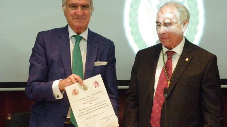 Publicado el vídeo del nombramiento de miembro de honor de la Fundación Carlos III para la RACVE