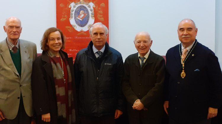 Miembros de la RACVE presentes en la sede de la Real Academia de Doctores para asistir a una sesión sobre «Galdós ante la historia de España»