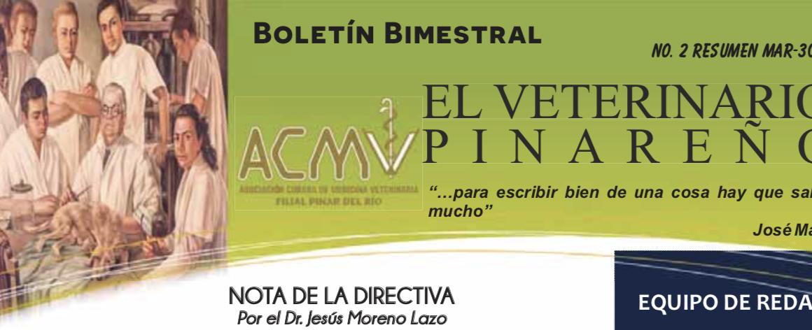 NOTICIAS DE CUBA: La publicación «El Veterinario Pinareño» retoma su actividad